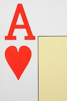 Macro van de brief van de aas van harten