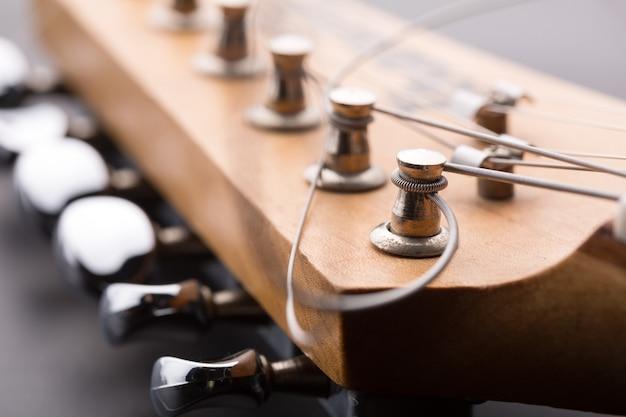 Macro van elektrische gitaarkop