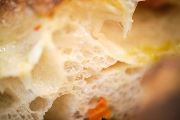 Macrodetail van vers gebakken broodkruimels