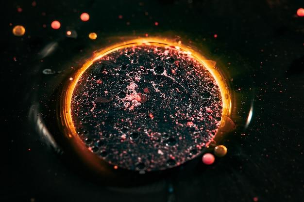 Macrofotografie. universum in de bubbel. geweldige abstracte fotografie.