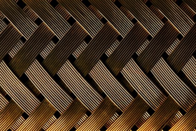 Macromening van gouden vezel
