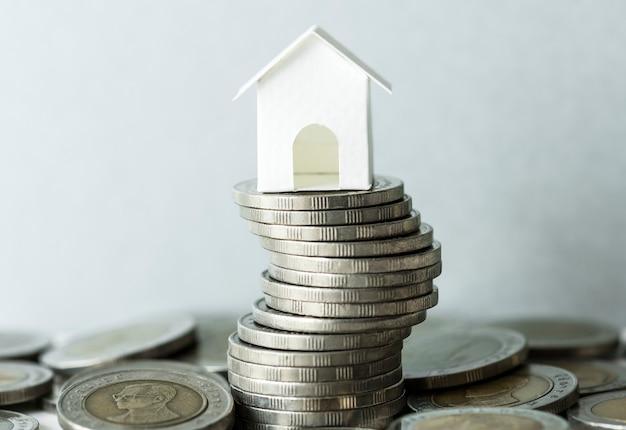 Macroschot van financieel hypotheekconcept