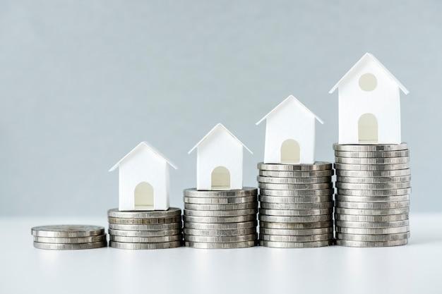 Macroschot van verhoging van het concept van de hypotheekrente