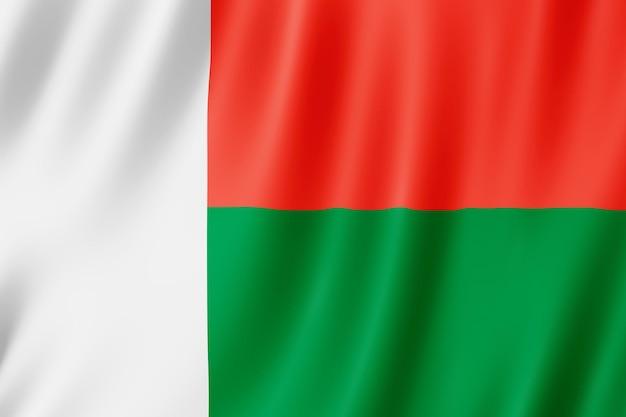 Madagaskar vlag zwaaien in de wind.