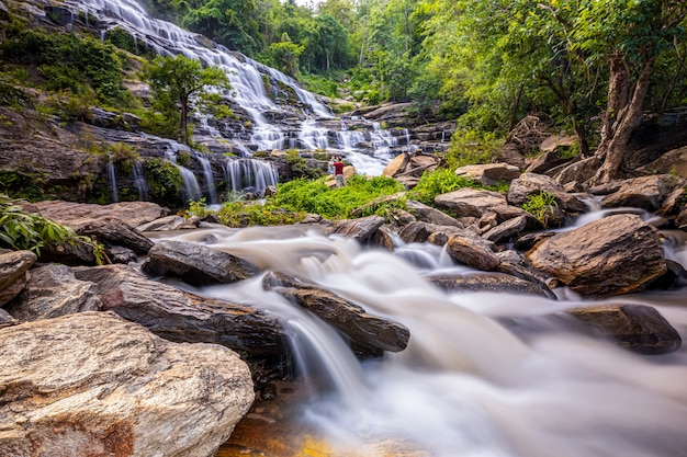 Mae ya-watervallen, chiangmai, thailand
