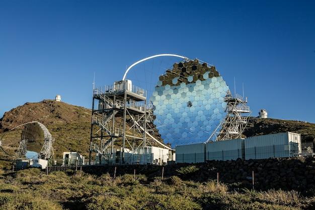 Magic telescope bij roque de los muchachos in la palma, canarische eilanden