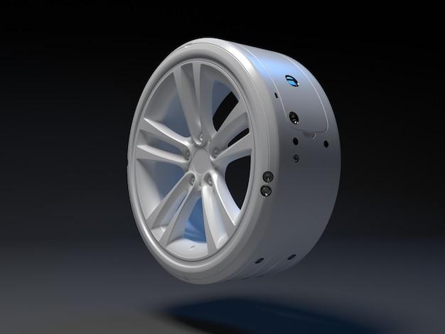 Magnetische elektrische autowielen van de toekomst