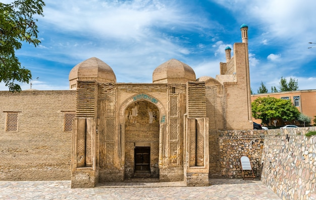 Magoki-attori-moskee in de oude stad van bukhara, oezbekistan. centraal-azië