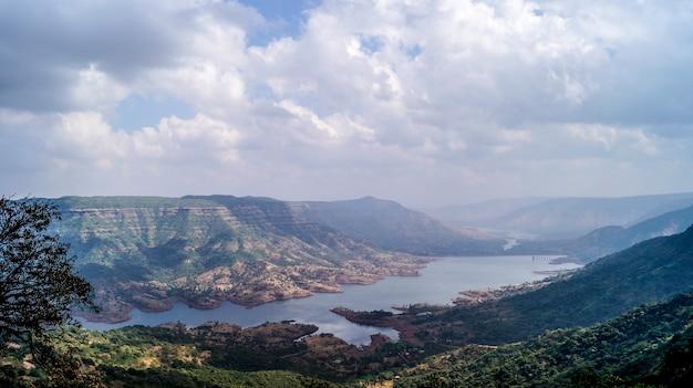 Mahabaleshwar uitzicht op het meer