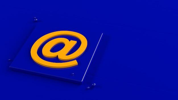 Mail logo minimaal eenvoudig ontwerpsjabloon