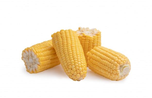 Maïs brak doormidden en schilde met stapel bij elkaar