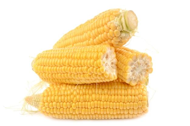 Maïs geïsoleerd op wit