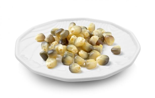 Maïs in een bord