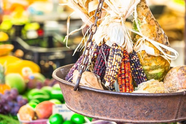Maïs in fruitmarkt
