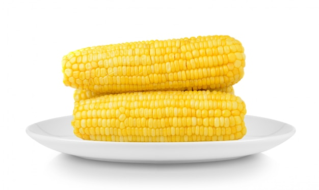 Maïs in plaat geïsoleerd