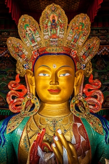 Maitreya boeddha in thiksey gompa