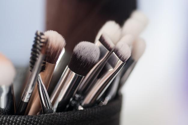 Make-up borstels close-up
