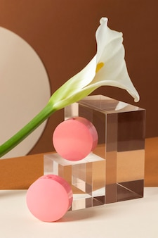 Make-up concept met blush containers