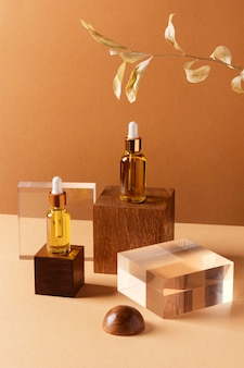 Make-up concept met serum