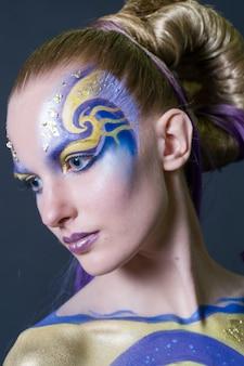 Make-up en haar artiesten competitie