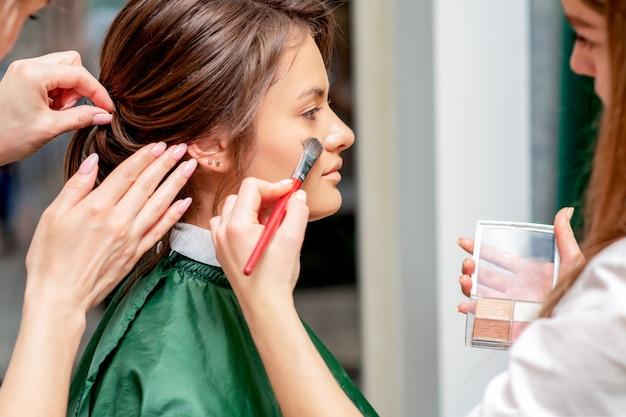 Make-up en kapselproces.
