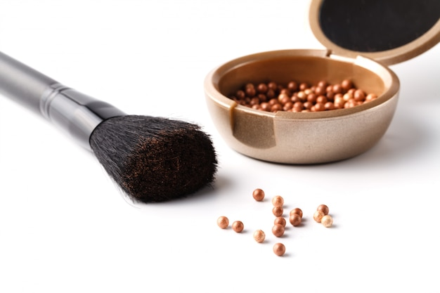 Make-up poeder en borstel