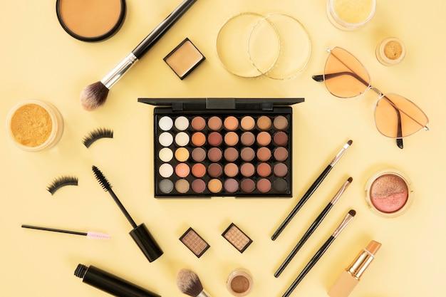 Make-up schoonheidsproducten instellen