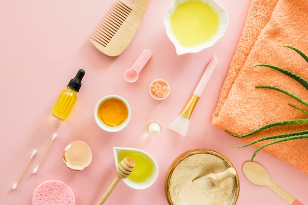Make-up spa-behandeling concept