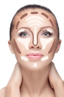 Make-up van het gezicht van de vrouw