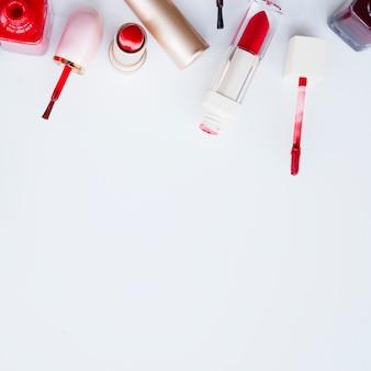 Make-up van lippenstift