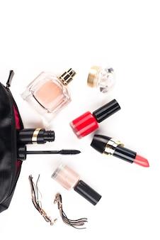 Make-upborstel en cosmetica