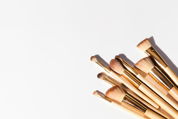Make-upborstels bovenaanzicht