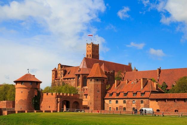 Malbork-kasteel in het gebied van pomerania van polen.