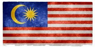 Maleisië grunge vlag