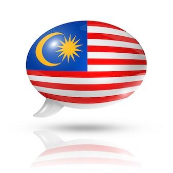 Maleisische vlag tekstballon