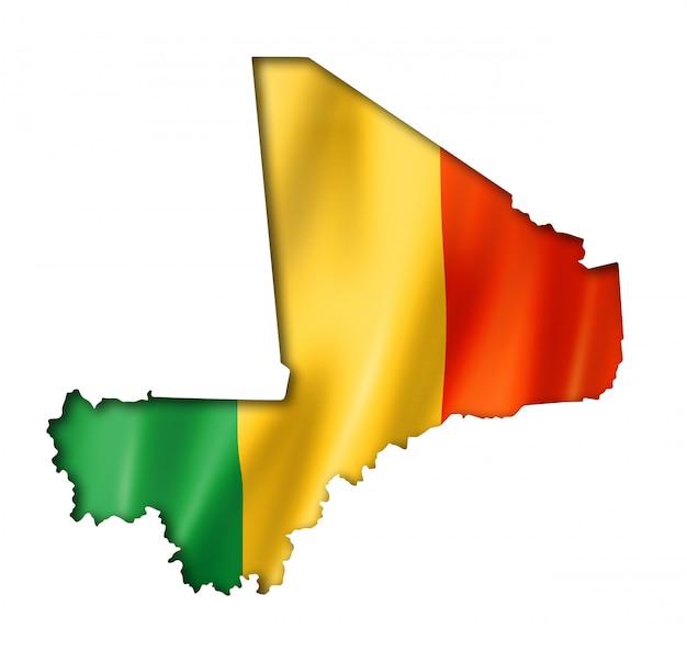 Mali vlag kaart