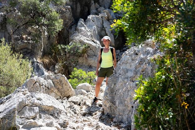 Mallorca eiland. het oversteken van de kloof