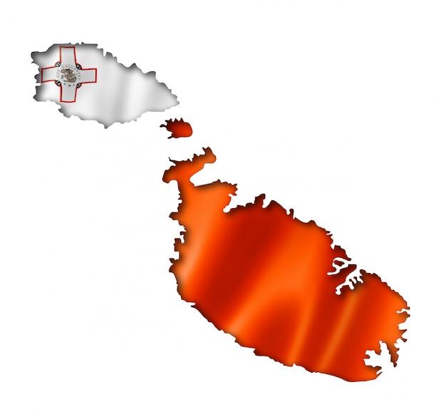 Malta vlag kaart