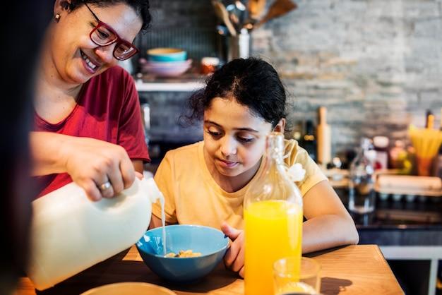 Mammende melk in dochtergraangewas