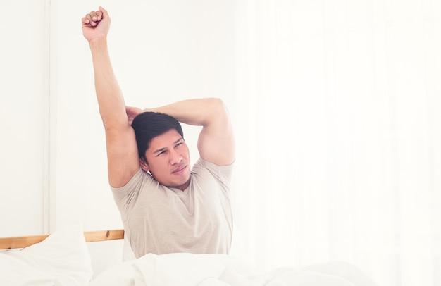 Man die 's ochtends wakker wordt
