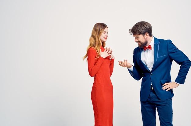 Man en vrouw familie aantrekkelijke lichte achtergrond