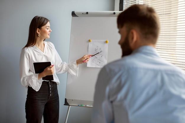 Man en vrouw werken samen in een startend bedrijf
