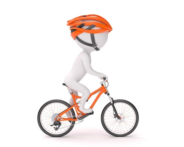 Man fietsen