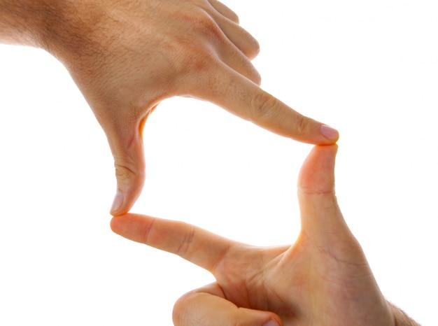 Man handen frame.