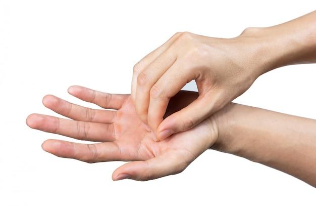 Man handwas voor bescherming coronavirus en kiem
