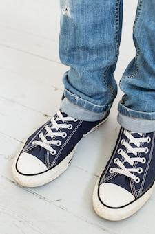 Man in sneakers