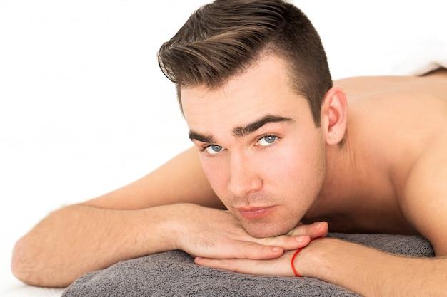 Man in spa salon