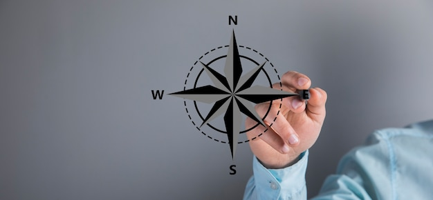Man klikt op het kompaspictogram