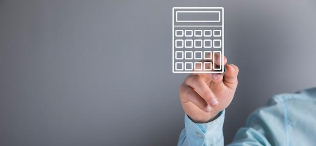 Man klikt op het rekenmachinepictogram