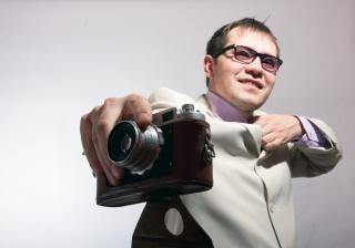 Man met camera klassieke